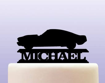 Personalised Acrylic Retro Ford Mustang Cake Topper