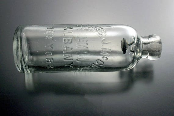 Soda Bottle, Hutchinson Closure, Blob Top, Circa 1880, James J. McGraw, Albany NY,  Collectible, Clear Glass