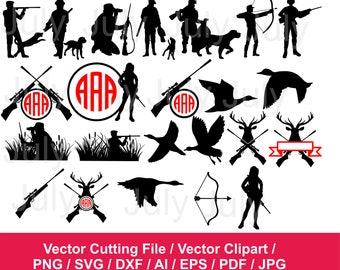 70 % OFF, Hunting SVG, dxf, png, eps, ai, pdf, jpg, Hunting Clipart, Hunting Monogram Frames,  Gun svg, Hunting Cut File, Hunter Silhouette