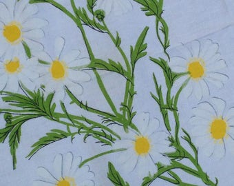 Vintge Vera Neumann Daisy Rectangle Tablecloth