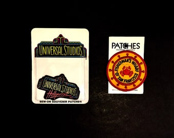 Vintage Souvenir Travel Patch From Holm Patches Fishermans Wharf San Francisco Universal Studios Hollywood California New In Package