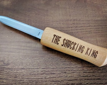 The Shucking King - Engraved Oyster Knife