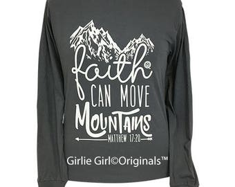Girlie Girl Originals Mountains Long Sleeve Charcoal T-Shirt