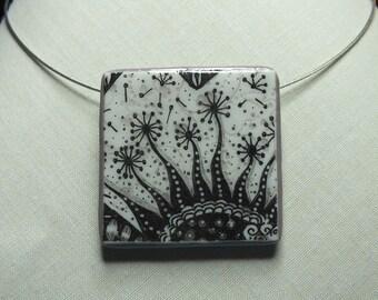 Collier vent d'automne sur fleurs imaginaires