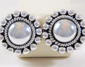 Lovely Mid-Century Designer Sterling Silver Earrings