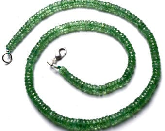 Natural Rare Gemstone Nepal Mint Green Color Kyanite 5 to 6MM Faceted Heishi Beads 16 Inch Full Strand Fine Quality Beads Complete Necklace