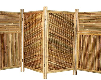 "4 Panels Bamboo Screen Enclosure, 48""H x 24""W per panel, BSC-684,"