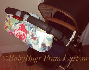 Custom pram caddy organiser universal cath kidston regal rose