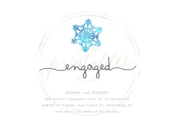 Engagement Party Invitation Christmas Engagement Party – Holiday Engagement Party Invitations