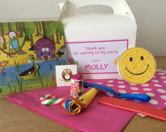 Personalised Children's Pre Filled Birthday Party/Wedding Favour Box