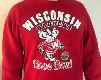 Vintage Wisconsin Badgers Crewneck Sweatshirt