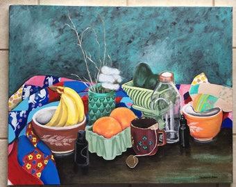 Nannys Quilt Still Life (Original Art)