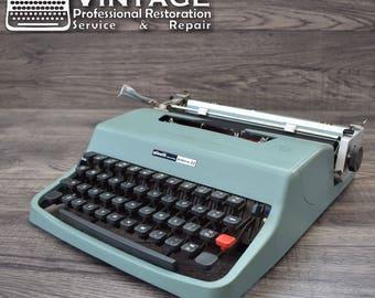 Brilliant & Serviced Olivetti Lettera 32 Typewriter Working Black Red ribbon
