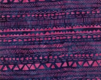 Moda LONGITUDE BATIKS by Kate Spain-navy/magenta (27259 119)-by the YARD