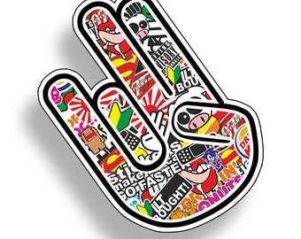 Graffiti Shocker Hand Symbol Sticker Bomb Car Truck JDM Vinyl Decal Graphic