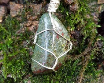 Dragonstone Wire - Wrapped Pendant