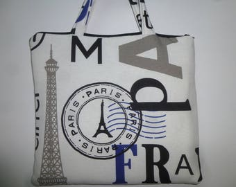 """Cover for Tablet padded fabric """"shopping in Paris"""""""