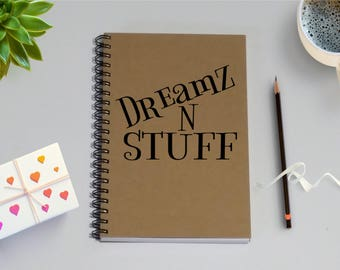 Writing Journal - Dreamz N Stuff - 5 x 7 Journal, Writing journal, To Do List, Notebook, Dreams, Wish List, Dream Journal