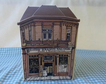 Old West Main Street Cookie Jar   1980 Enesco