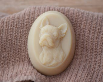 Boston Terrier Shaped Soap. French Bulldog Shaped Soap, Frenchie Shaped Soap, Dog Shaped Soap, Goat Milk Soap Gift