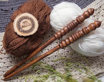 "Wooden knitting needles 10mm (0,39"") Exclusive handmade of natural SIBERIAN BIRCH WOOD #N3"