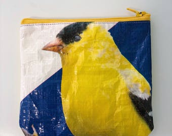 Upcycled Bird Seed Bag Pouch