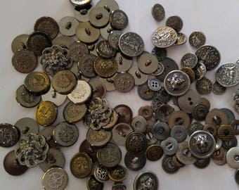 10  Bronze Colour - Silver Colored -Sewing Buttons - #MB-00011