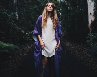 Ivory Linen Dress - Loose Linen Dress - Linen Tee Dress - Oversized Linen Dress - Knee Length Dress -Linen Summer Dress - Short Sleeve Dress