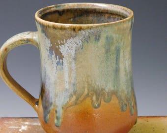 494 Mug, Coffee Cup, Tea Cup, Wheel Thrown Stoneware, 16 oz.