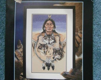 Three Grey Wolves Cross Stitch Pattern Chart from Dimensions