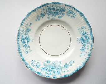 Antique Sandwich Plate Or Large Cake Plate. Victorian Cake Plate or Serving Platter, Blue And White Flower Pattern. Great For A Tea Party
