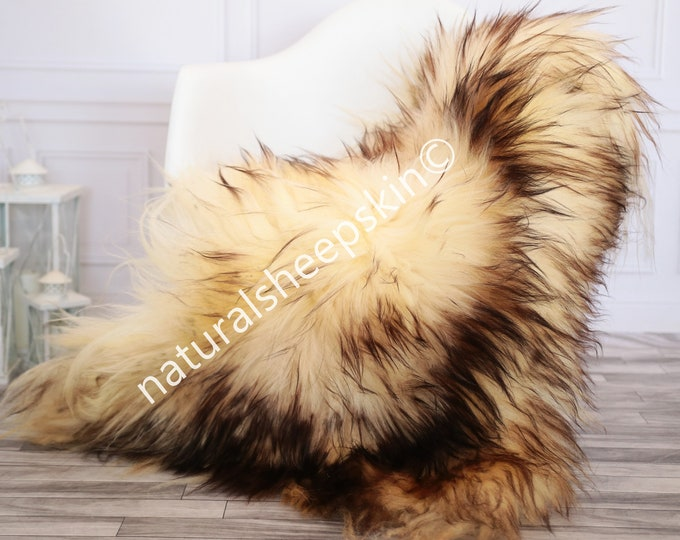 Icelandic Sheepskin | Real Sheepskin Rug | brown Sheepskin Rug | Fur Rug | Homedecor #febisl13