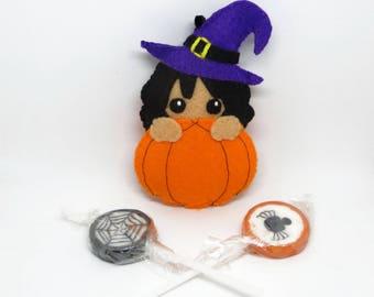 Halloween decor, pumpkin decor, witchy decor, halloween ornaments, pumpkin charm, witchy home decor, halloween decorations, witch charms