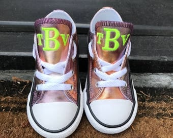 Custom Monogrammed Kids Converse Sneakers
