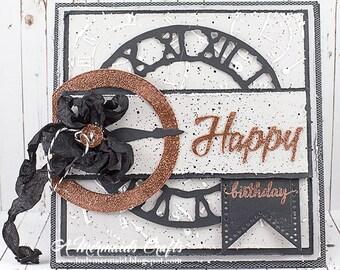 Masculine Happy Birthday Greeting Card