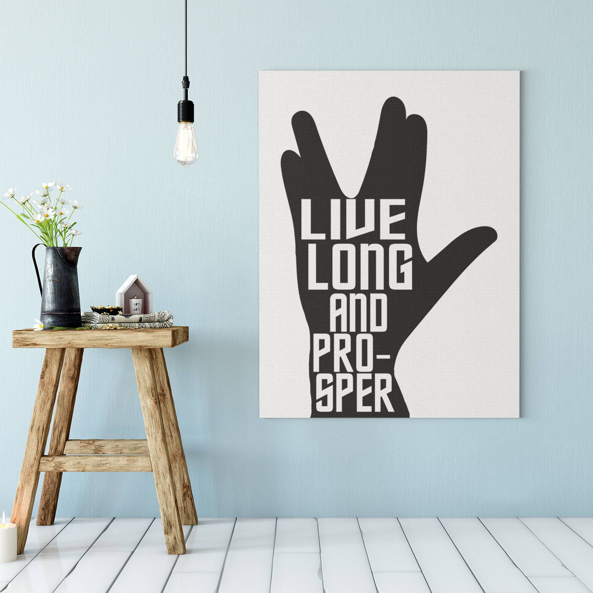 Spock Quotes Live Long And Prosper: Star Trek Print Live Long And Prosper Star Trek Wall Art
