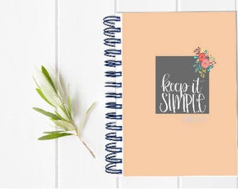 Small Undated Inspirational Motivational Planner - One Year Fill in Calendar Planner - Weekly Planbook - Monthly Notebook Schedule