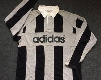 On Sale 28% Vintage Adidas Stripe Big Logo Hip Hop Rare 80s 90s Shirt