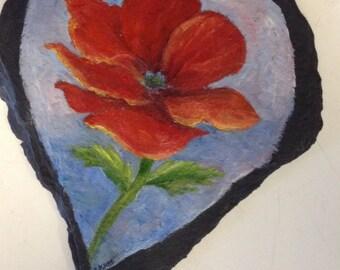 Red poppy slate