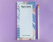 Cactus Notepad | To Do List  | Daily Planner | Checklist | Memo Pad | Desk Stationery | Gift for Her | Student Gift | Christmas Gift