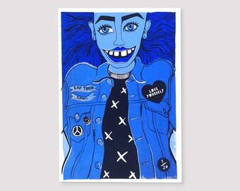 Love Yourself   Fashion Illustration   Wall Art   Screen Print   Poster