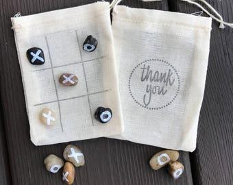 Thank you favor bags - tic tac toe wedding favors - reception favors - guest favors - quiet game