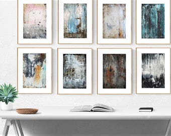 painting,  8 textured abstract painting, wall art,by Jolina Anthony