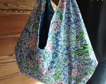 "Christmas gift ""Woman""... Blue Origami size M Batik bag"