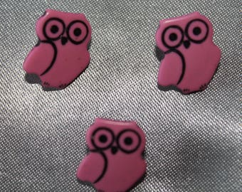 button, baby, animal, owl, pink.