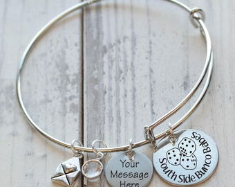 Bunco Babes Wire Adjustable Bangle Bracelet