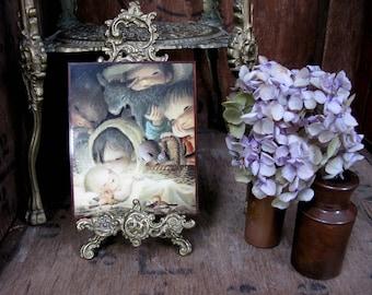 Juan Ferrandiz Picture, Ferrandiz Nativity, Nativity Picture, Nativity Plaque, Religious Picture, 1970s Christmas, Vintage Christmas, Kitsch