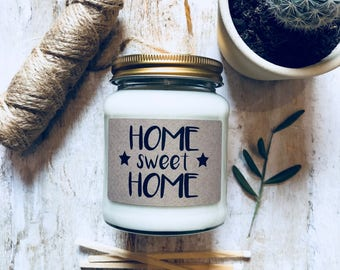 Home Sweet Home Scented Soy Candle , Housewarming Gift , First Home Gift , Moving Home ,  Scented Candle , New Home Gift , Moving Out Gift