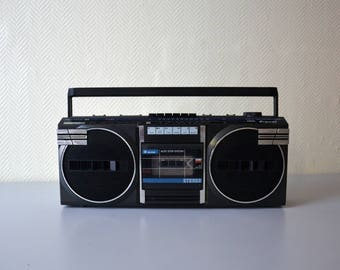 Vintage radio station Brandt electronic RK 742 S / Boombox ghetto blaster / STEREO cassette recorder 3 Band