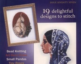 Jill Oxton's Cross Stitch & Bead Weaving 77 2009 - PDF ebook - Cross Stitch ebook - Instant download Digital book/magazine